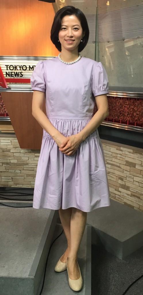 薄紫ワンピースの石井希和